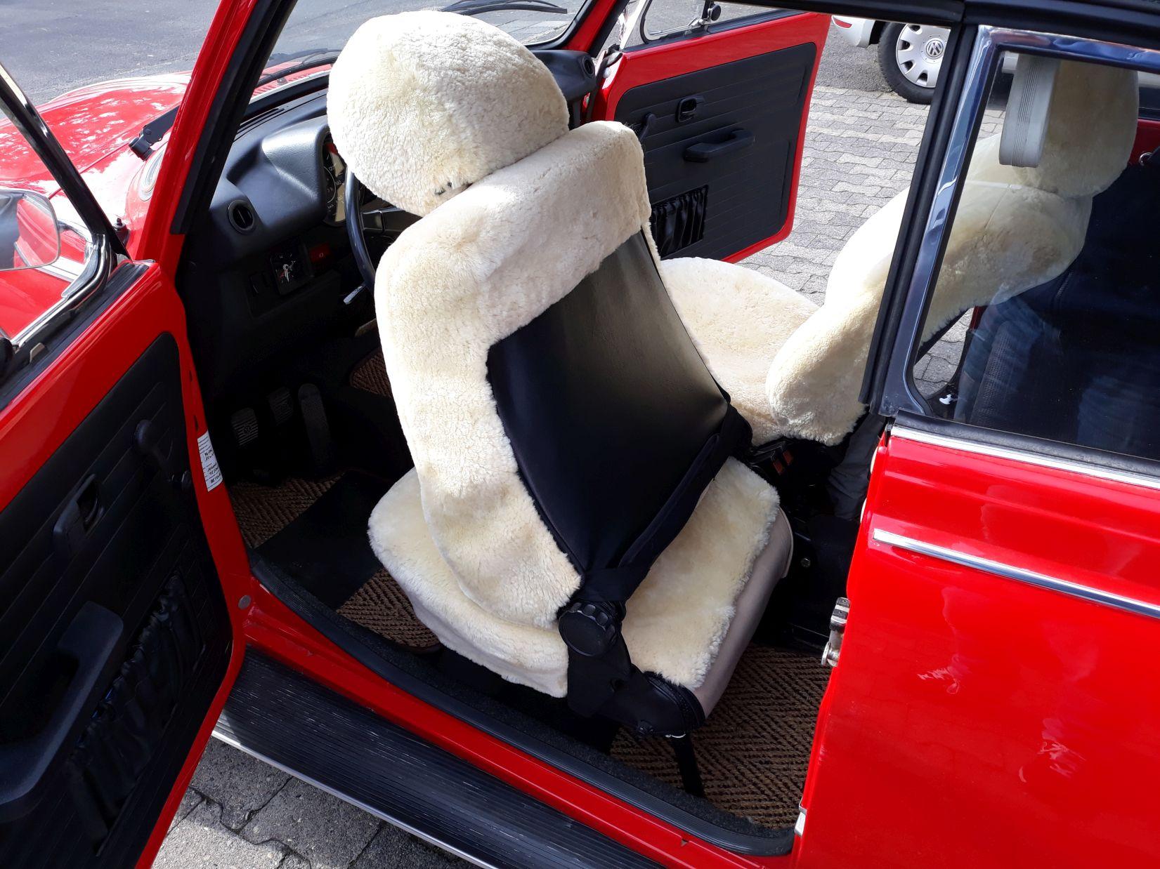 Lammfell Sitzbezüge VW Käfer Cabrio