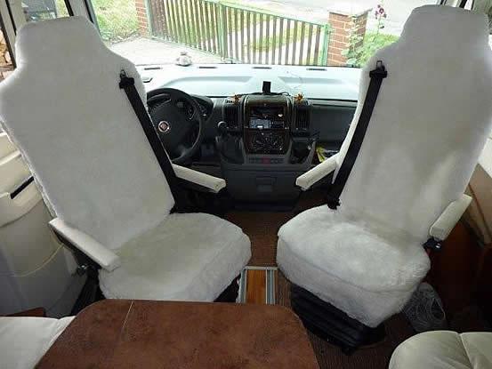 Wohnmobil Lammfell Sitzbezüge