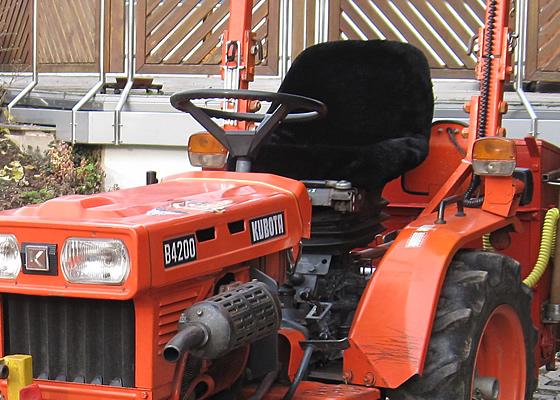 Traktor Sitzbezug Lammfell